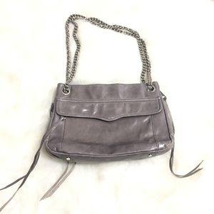 Rebecca Minkoff Gray Tortola Leather chain strap